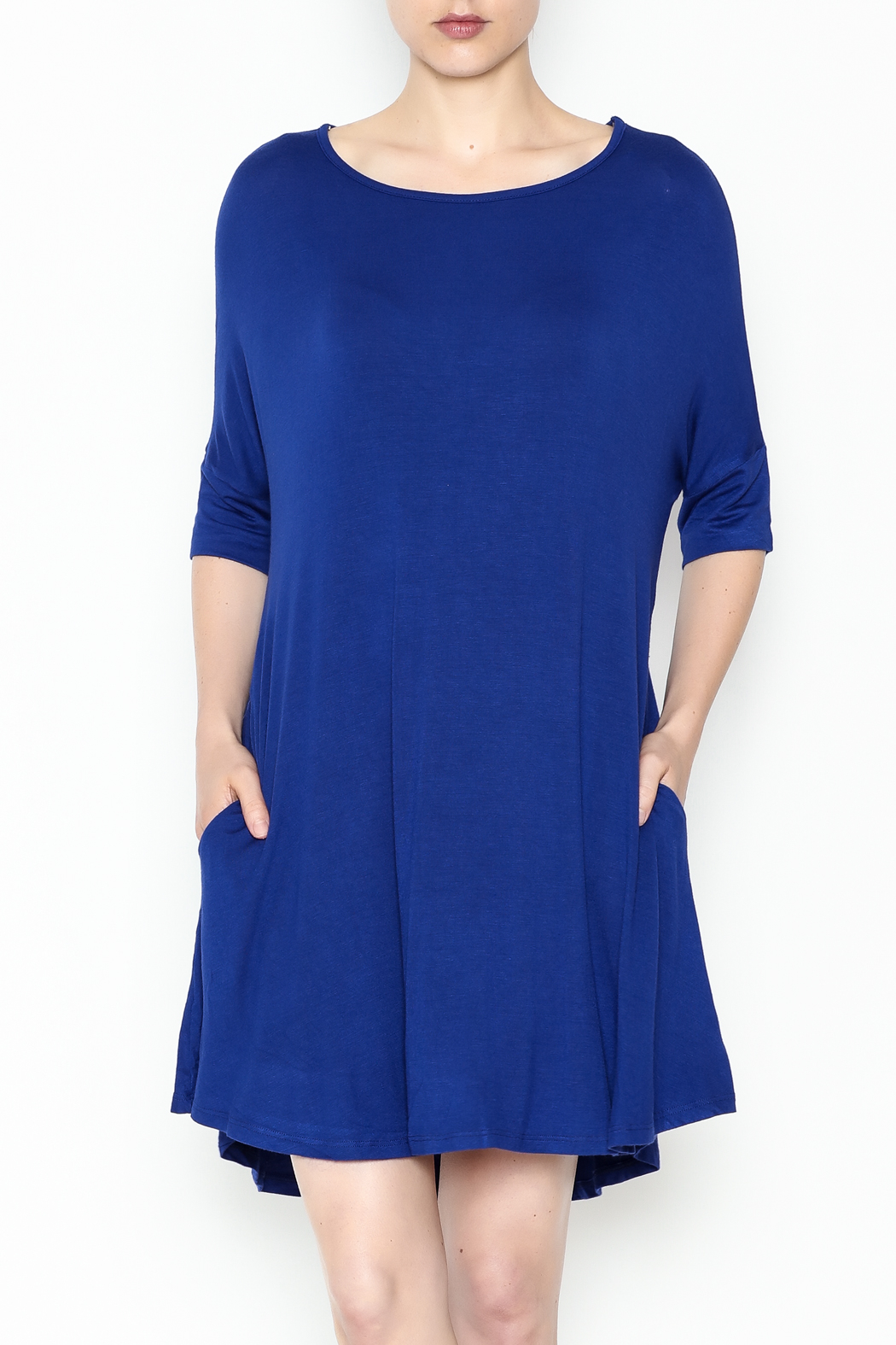 Umgee USA Royal Blue Tee Dress - Main Image