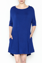 Umgee USA Royal Blue Tee Dress - Front cropped