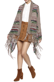 Umgee USA Stripe Fringe Sweater - Product Mini Image