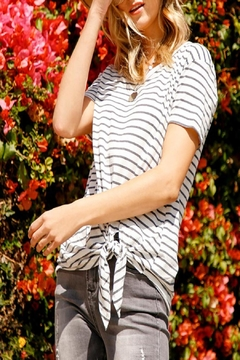 Umgee Striped Tie Top - Product List Image