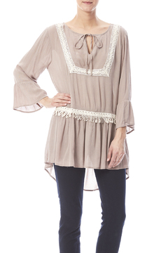Shoptiques Product: Taupe Tunic Top