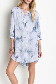 Umgee USA Tie-Dye Shirt Dress - Front cropped