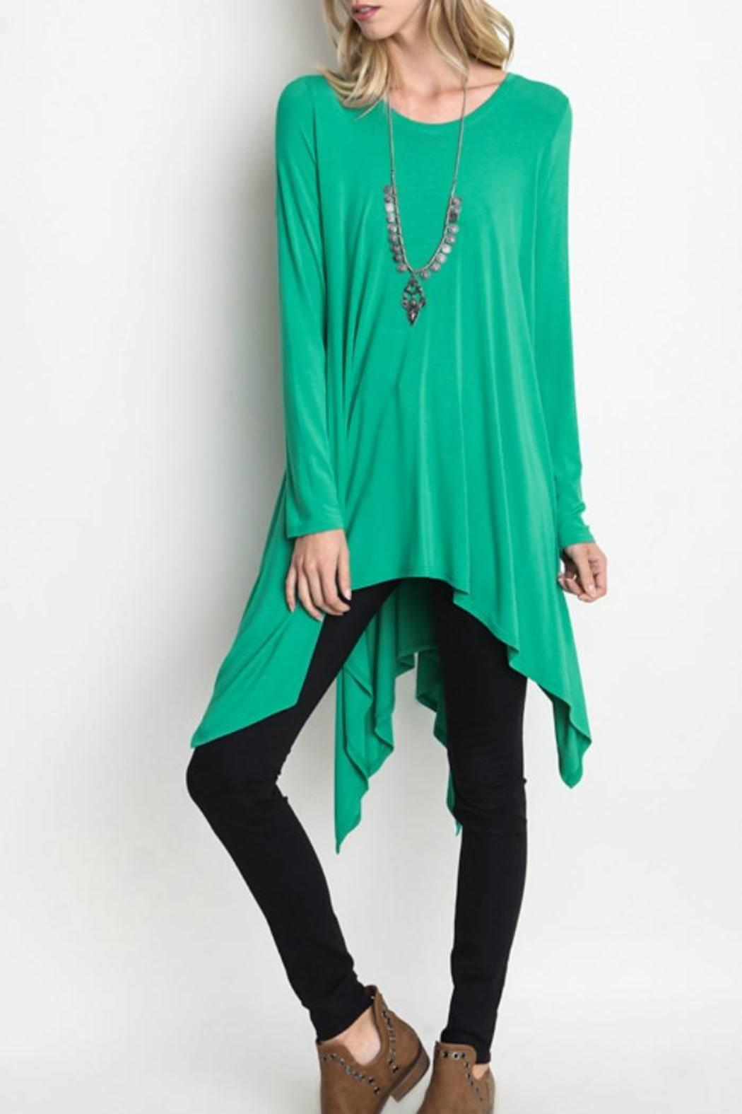 Umgee USA Trapeze Tunic Top - Front Cropped Image