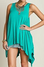 Umgee USA Turquoise Flare Tunic - Product Mini Image
