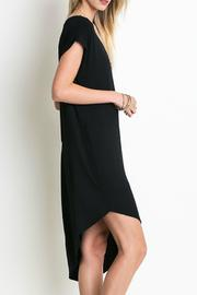Umgee USA Two-Toned Asymmetrical Dress - Front full body