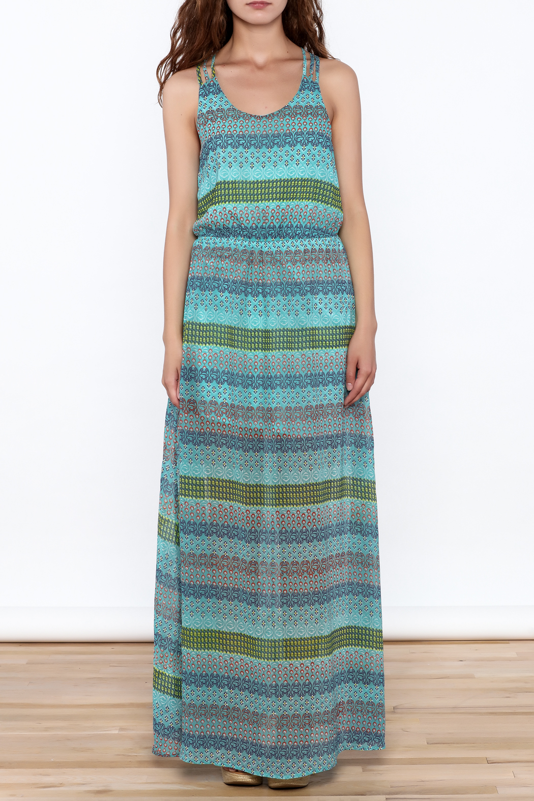 Umgee USA Anne Sleeveless Maxi Dress - Front Full Image