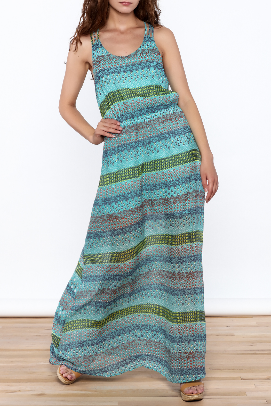Umgee USA Anne Sleeveless Maxi Dress - Front Cropped Image