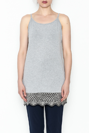 Umgee USA Crochet Tunic Tank - Front full body