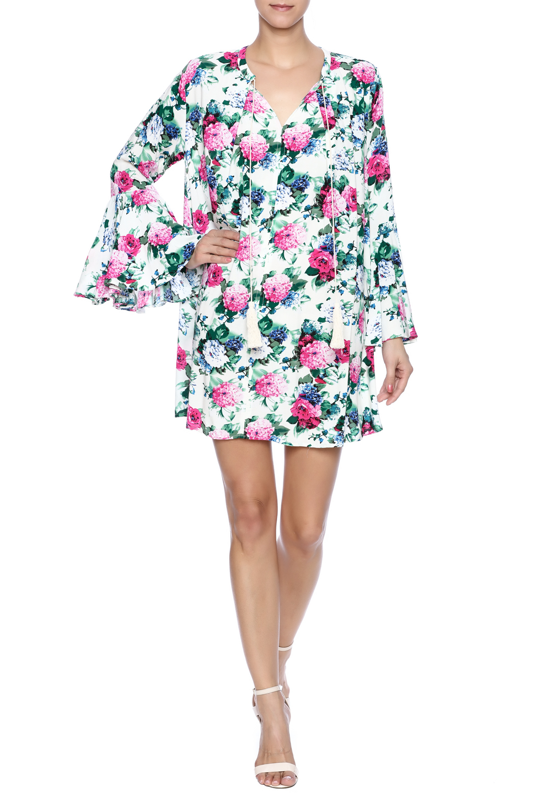 Umgee USA Floral Dress - Front Full Image