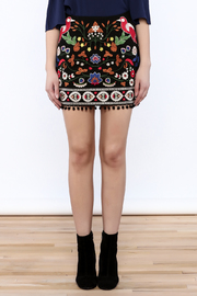Umgee USA Floral Embroidered Skirt - Side cropped