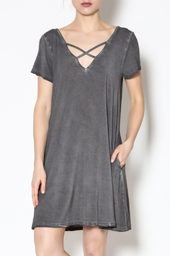 Shoptiques Product: Grey Crisscross Dress
