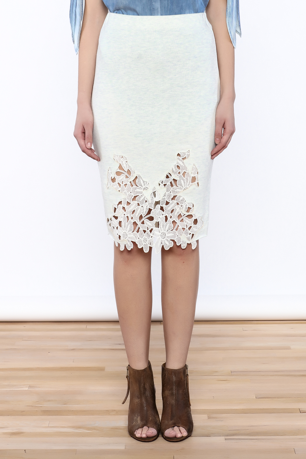 Umgee USA Lace Front Skirt - Side Cropped Image