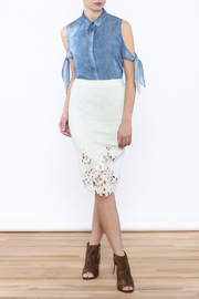 Umgee USA Lace Front Skirt - Front full body