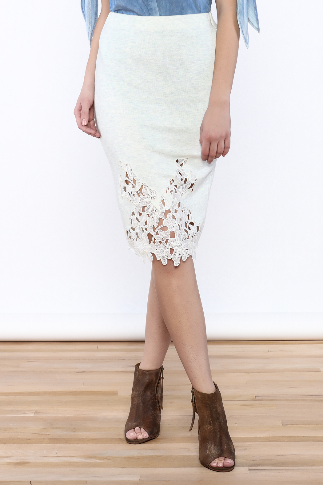 Umgee USA Lace Front Skirt - Main Image
