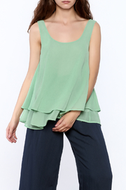 Umgee USA Layered Ruffle Tank - Product Mini Image