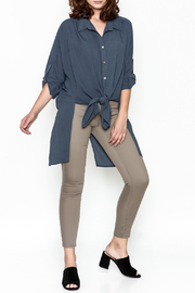 Umgee USA Navy Tie Blouse - Side cropped