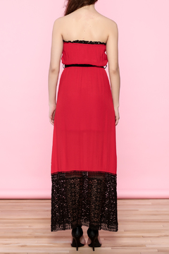 Shoptiques Product: Red Lace Tube Dress