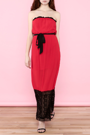 Umgee USA Red Lace Tube Dress - Product Mini Image