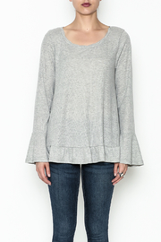 Umgee USA Ruffle And Lace Tee - Front full body