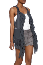 Umgee USA Ruffle Lace Vest - Product Mini Image