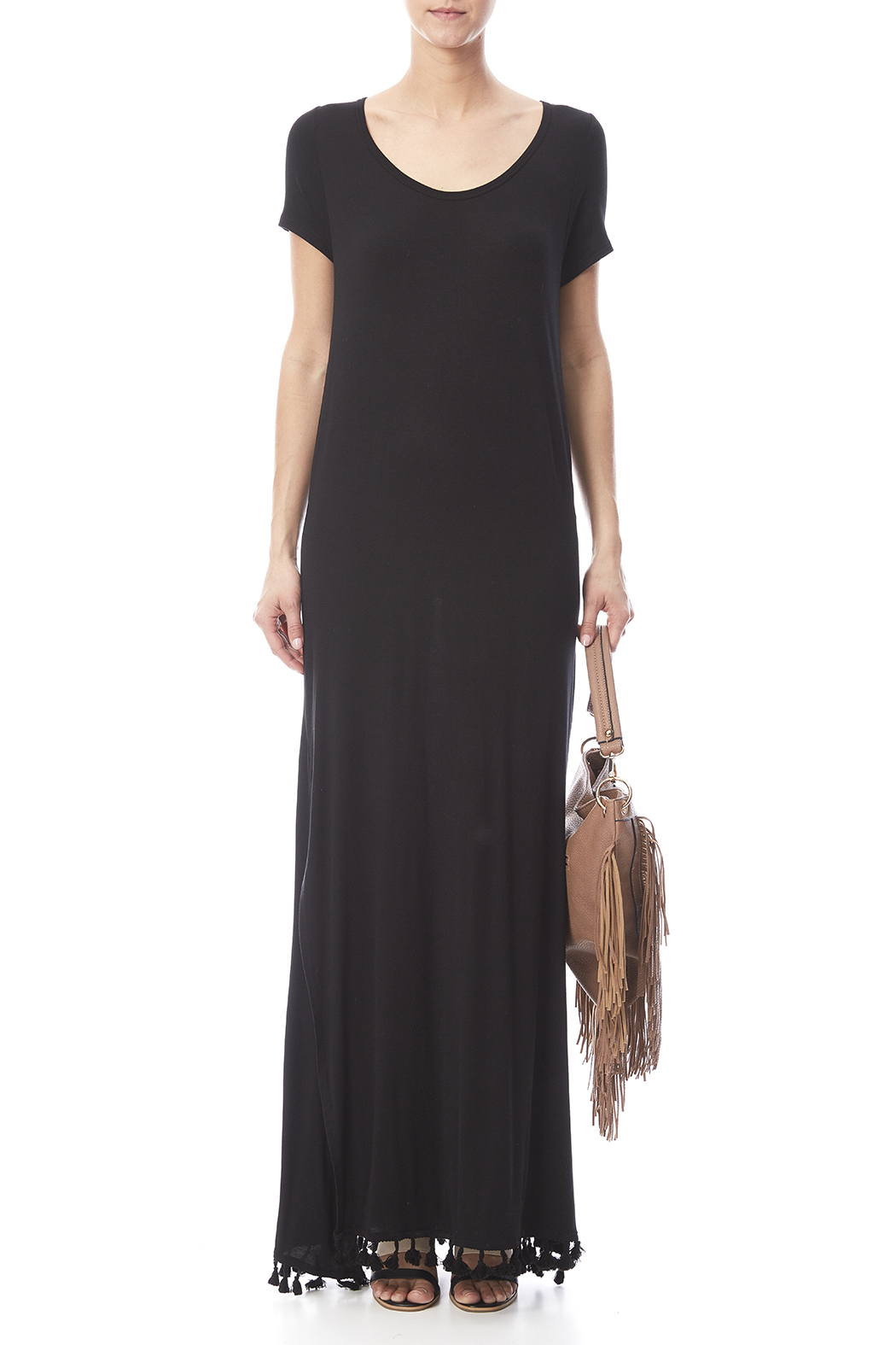 Umgee USA Side Split Maxi Dress - Front Cropped Image