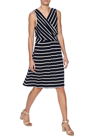 Umgee USA Striped Sleeveless Dress - Front full body