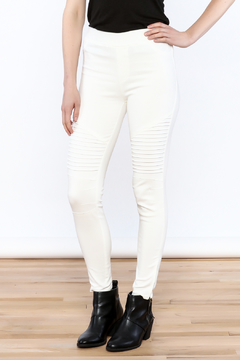 Shoptiques Product: White Moto Jeggings