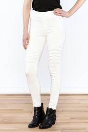Umgee USA White Moto Jeggings - Product Mini Image