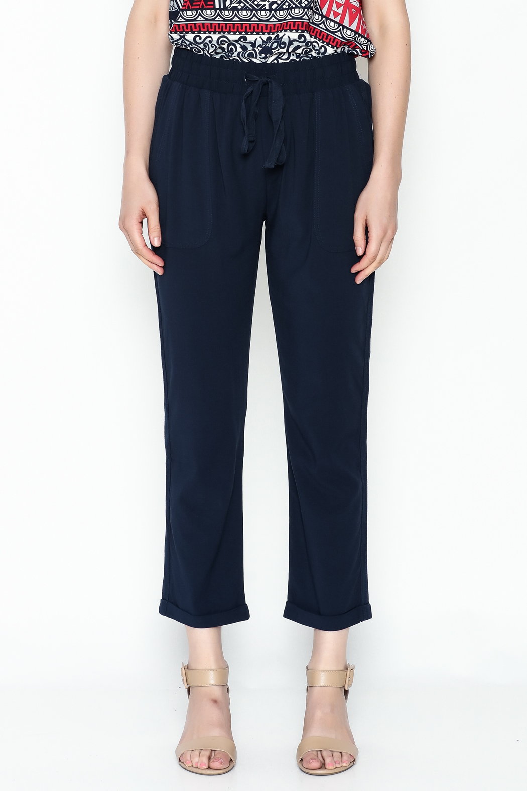 Umgee USA Waist Tie Pant - Front Full Image