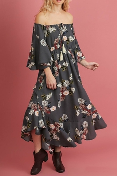 Shoptiques Product: 1/2 Sleeve Floral Dress