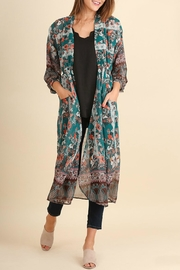 Umgee USA Boho Print Long Kimono - Product Mini Image
