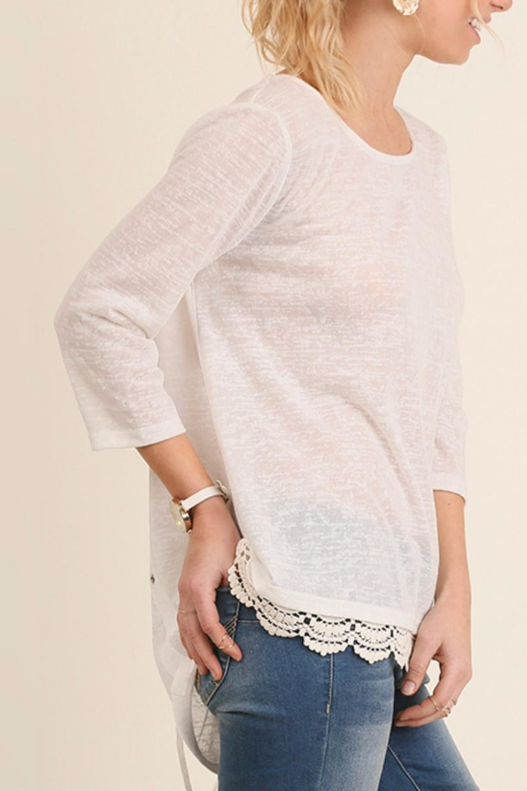 Umgee USA Crochet Top - Front Cropped Image