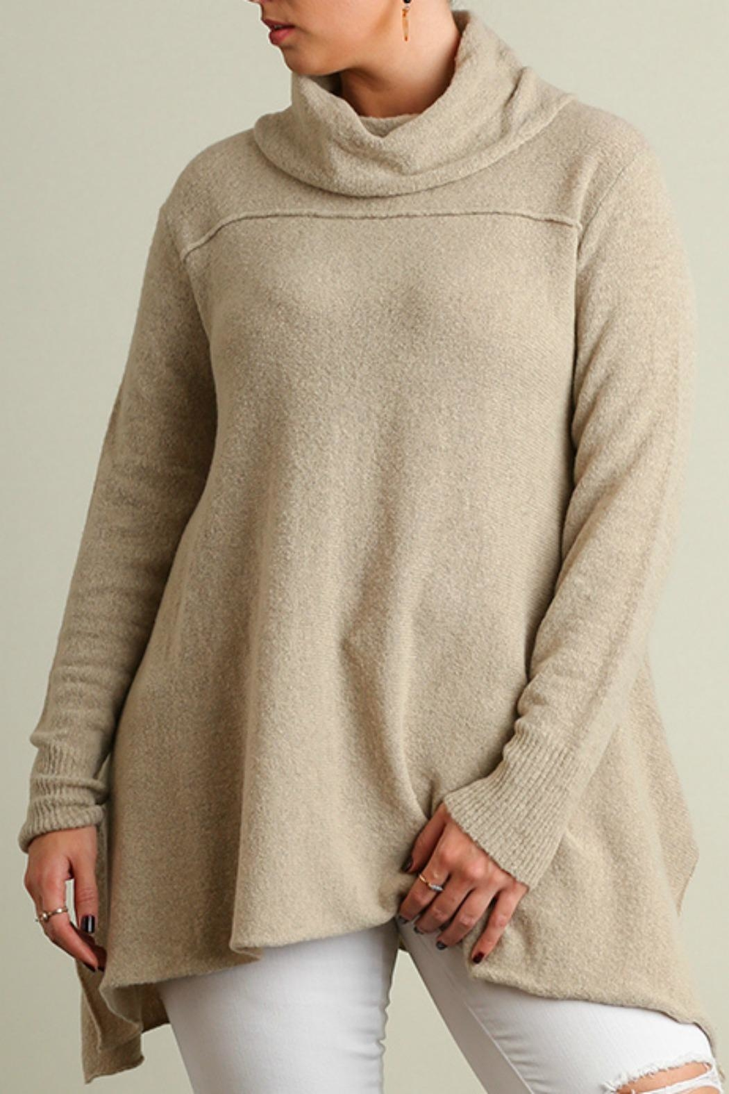 Umgee USA A-Line Plus Sweater - Front Cropped Image