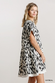 Umgee USA Abstract Babydoll Dress - Side cropped