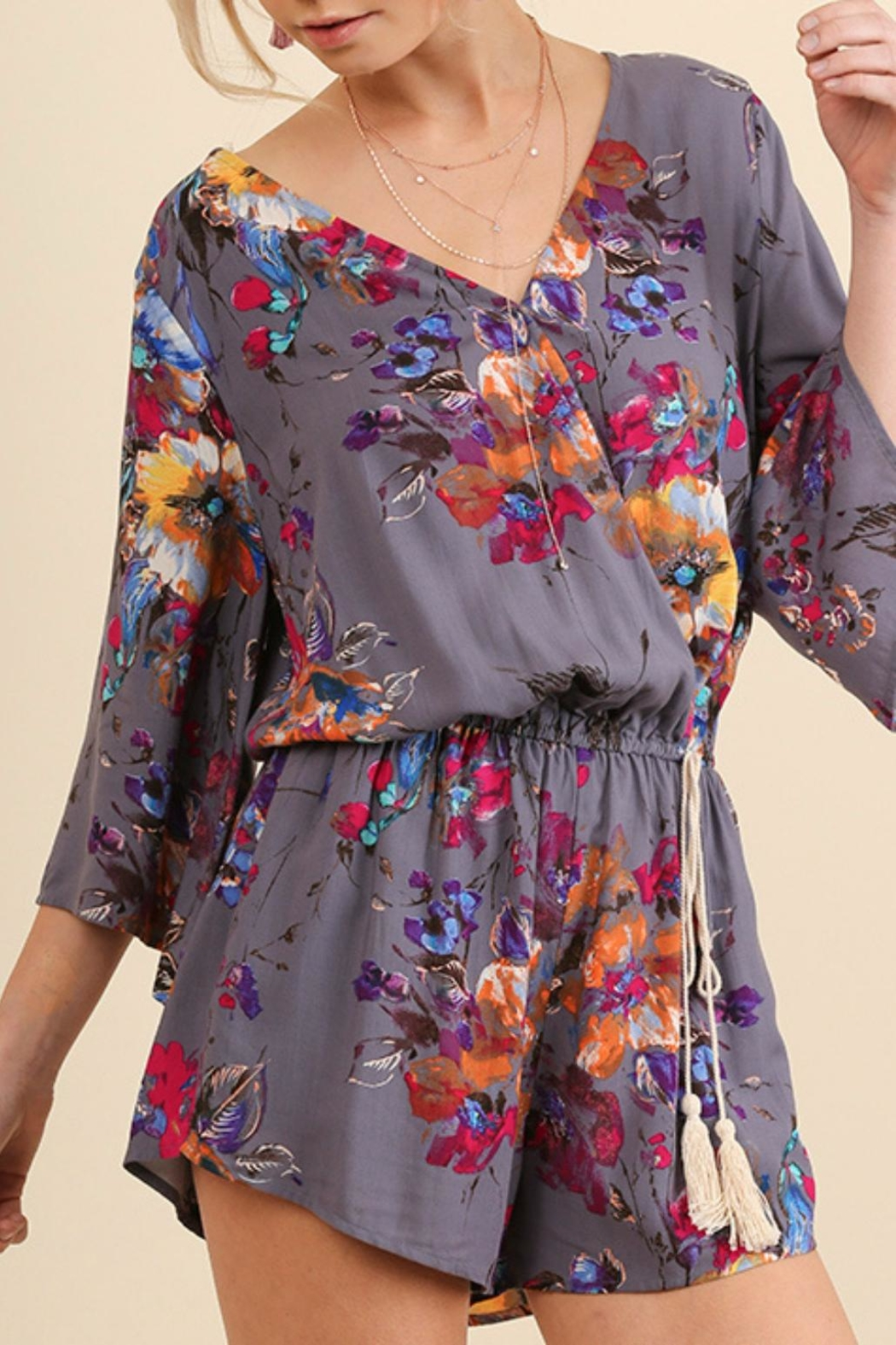Umgee USA Abstract Floral Romper - Main Image