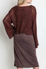 Umgee USA All-In-One Sweater Dress - Back cropped