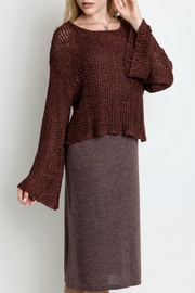 Umgee USA All-In-One Sweater Dress - Front cropped