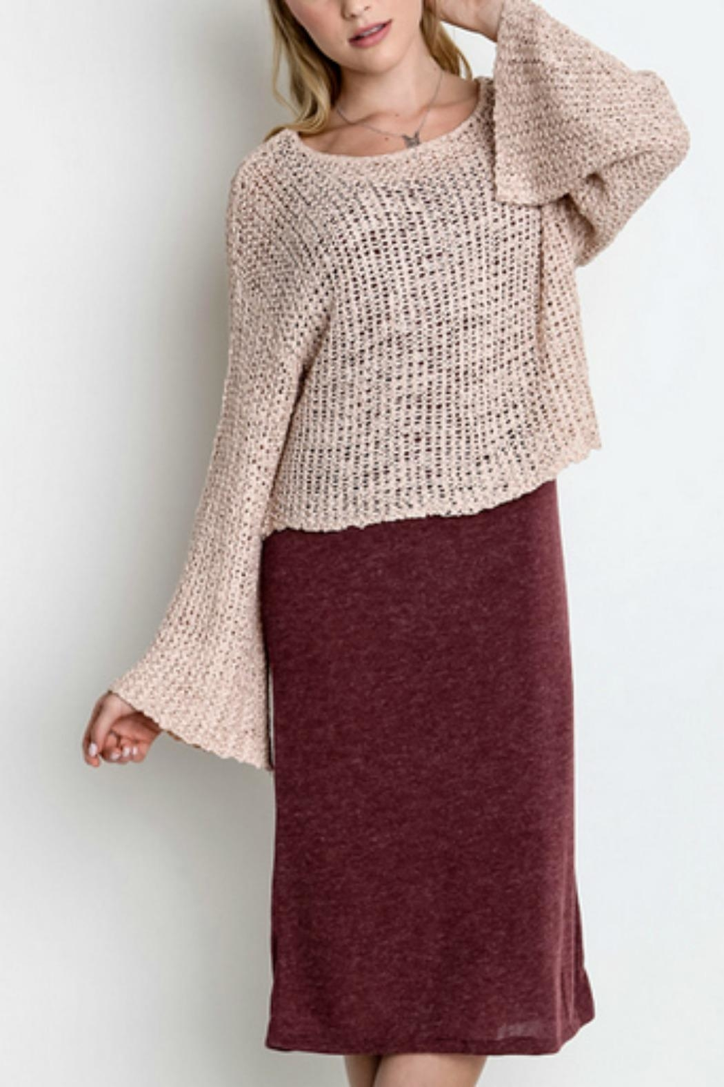 Umgee USA All-In-One Sweater Dress - Front Cropped Image