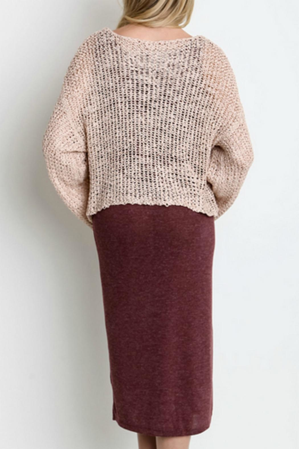 Umgee USA All-In-One Sweater Dress - Side Cropped Image
