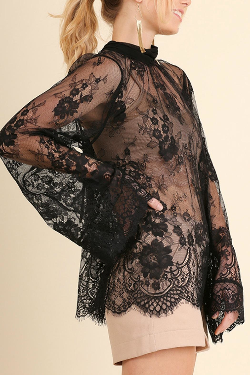Umgee USA Angel Sleeve Lace - Side Cropped Image