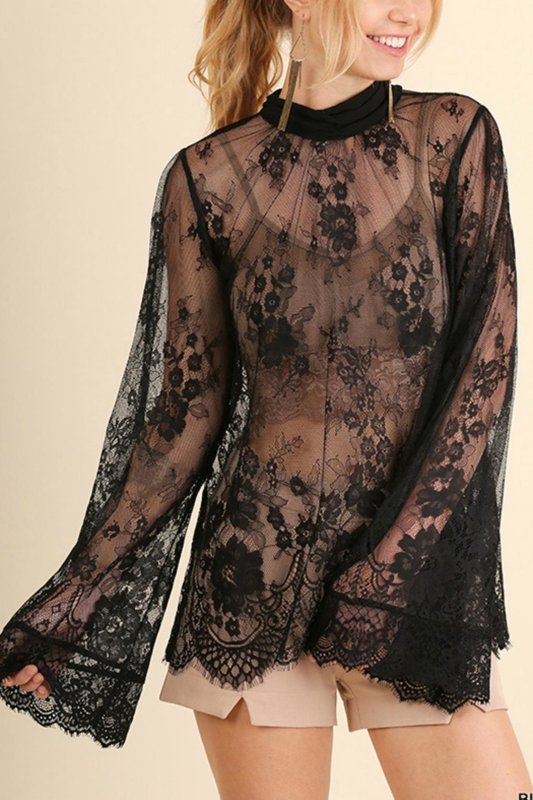 Umgee USA Angel Sleeve Lace - Front Full Image