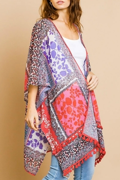 Umgee USA Animal Floral Kimono - Product List Image