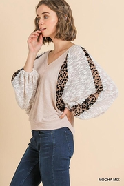 Umgee USA Animal Print V-Neck Top - Product Mini Image