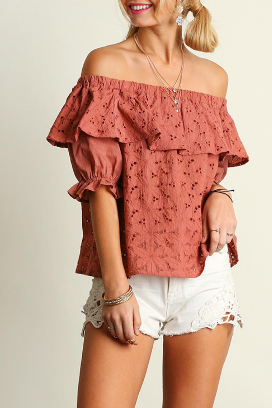 39f321dc7c2b7 Umgee USA Babydoll Off-The-Shoulder Top from Tennessee by Rustic ...
