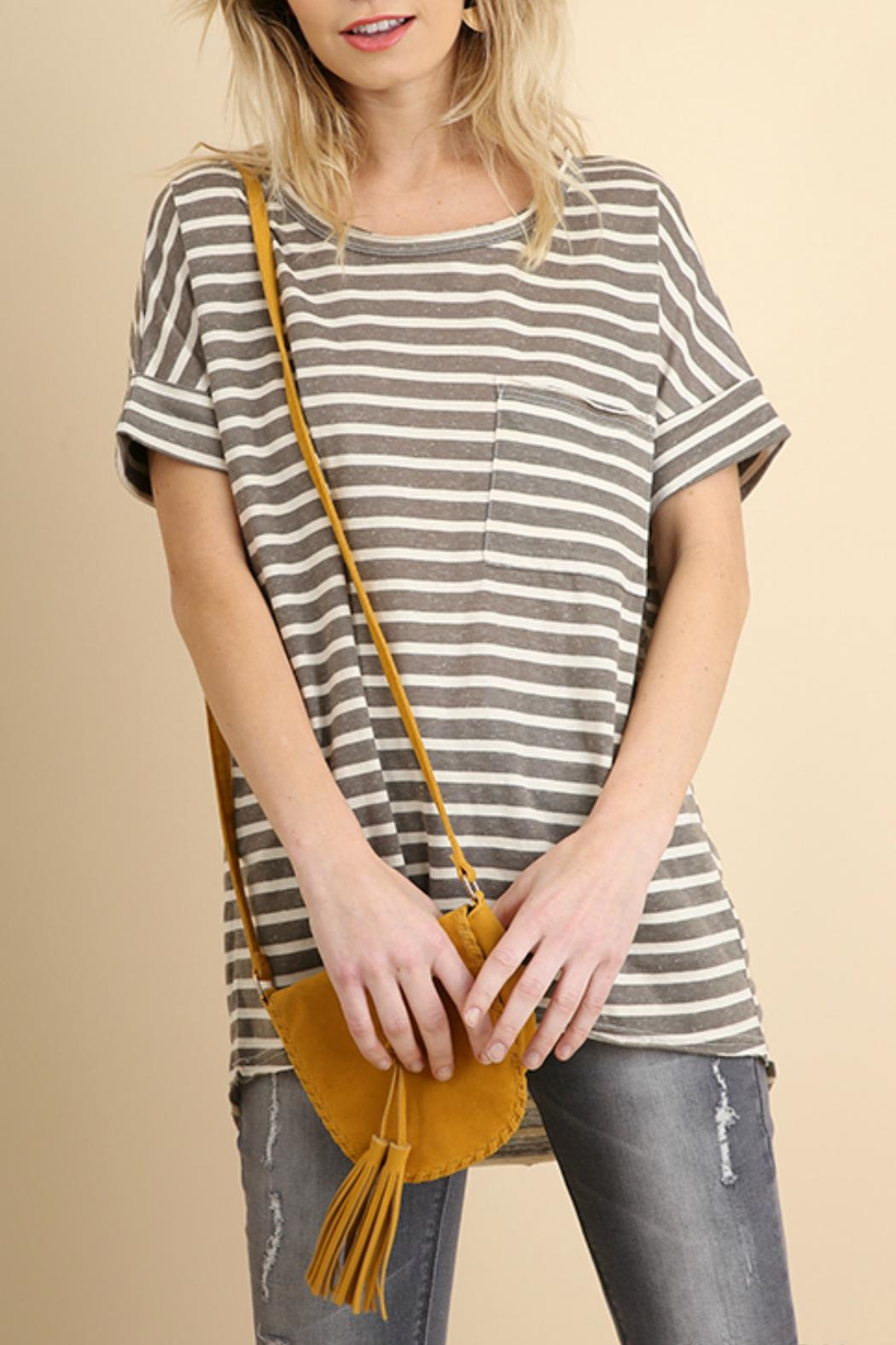 Umgee USA Basic Stripe Tee - Main Image