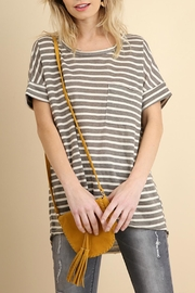 Umgee USA Basic Stripe Tee - Front cropped