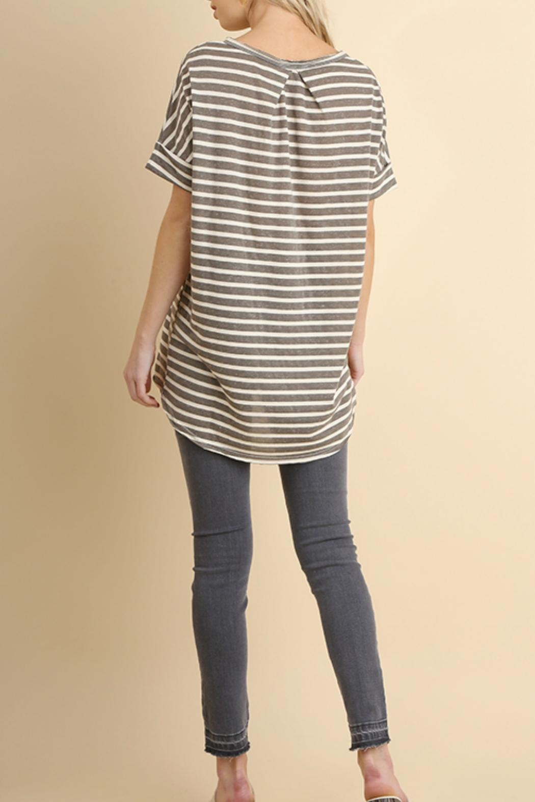 Umgee USA Basic Stripe Tee - Front Full Image