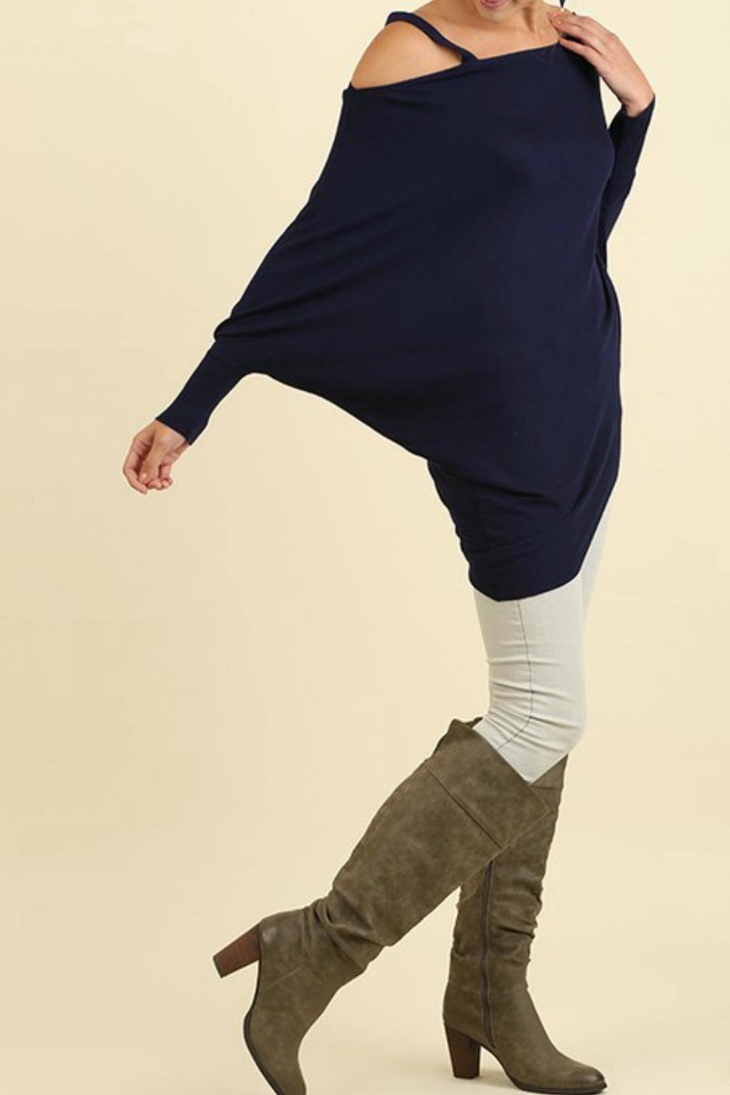 Umgee USA Batwing Sleeve Top - Front Full Image