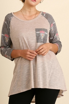 Shoptiques Product: Beige Printed Top