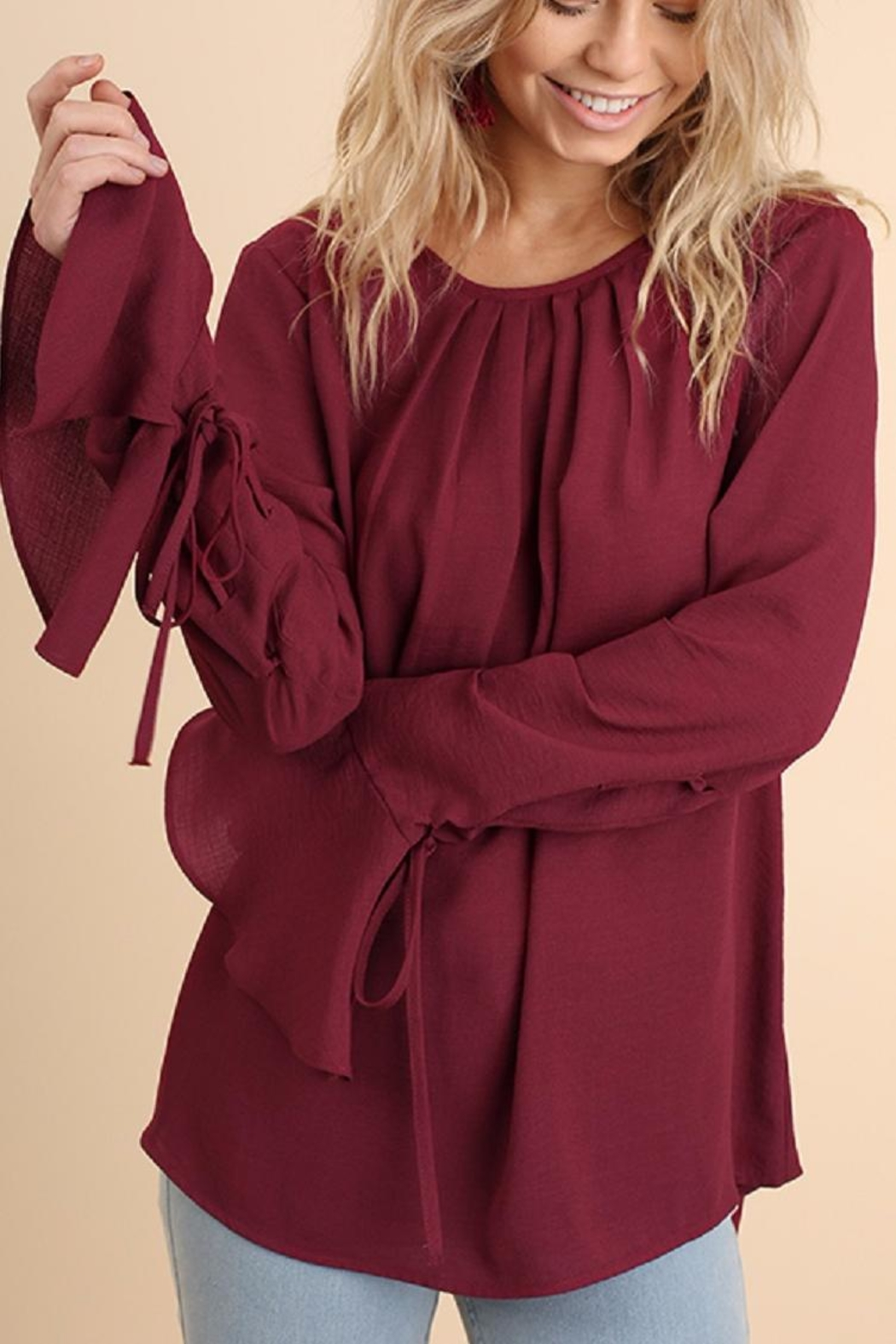 Umgee USA Bell Sleeve Blouse - Main Image